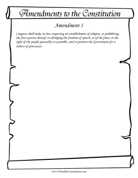 Amendment I Founding Document