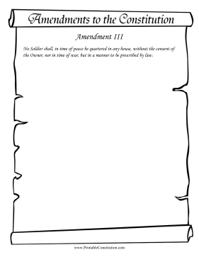 Amendment III Founding Document