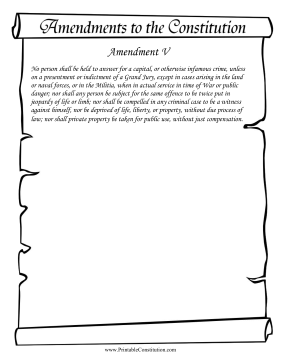 Amendment V Founding Document