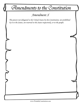 Amendment X Founding Document