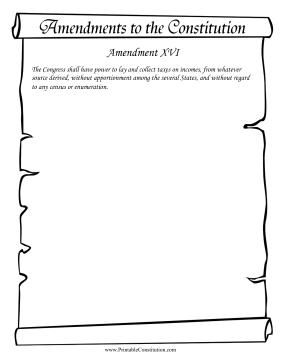 Amendment_XVI Founding Document
