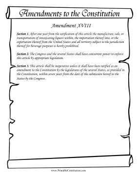 Amendment_XVIII Founding Document