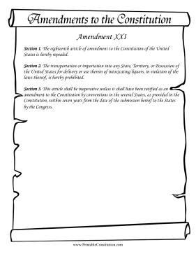 Amendment_XXI Founding Document