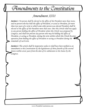 Amendment_XXII Founding Document