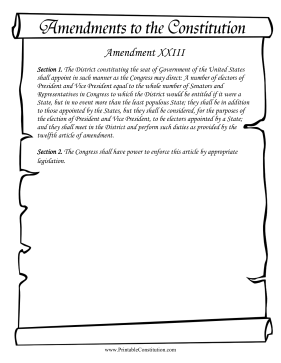 Amendment_XXIII Founding Document