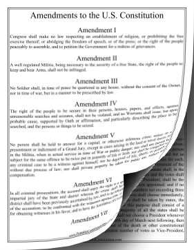 Amendments To Constitution — Large Print Founding Document