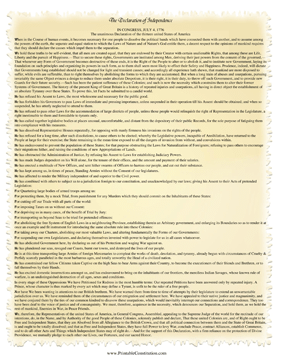 Single-Page Declaration Of Independence Founding Document