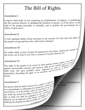 Bill Of Rights — Large Print Founding Document