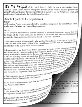 US Constitution — Large Print Founding Document